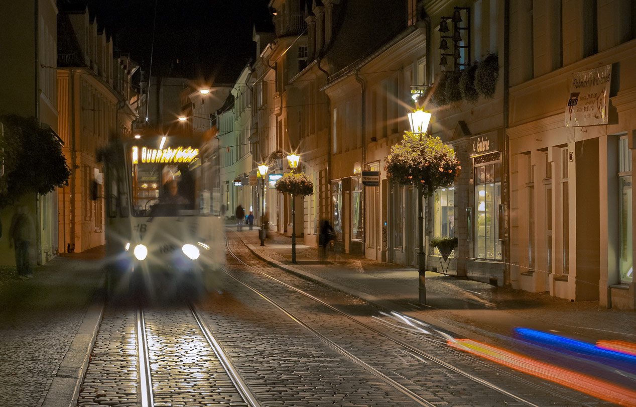 "photo ""***"" tags: street, evening, street, бранденбург, трамвай"