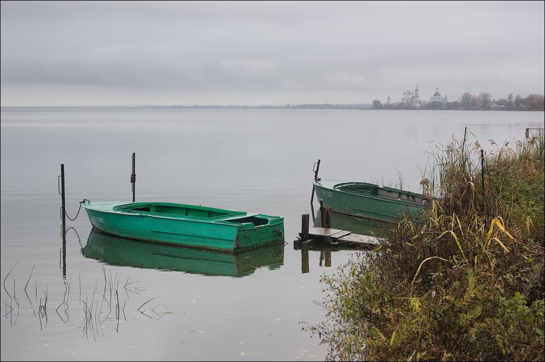 """photo """"***"""" tags: landscape, autumn, boats, water, Ростов"""