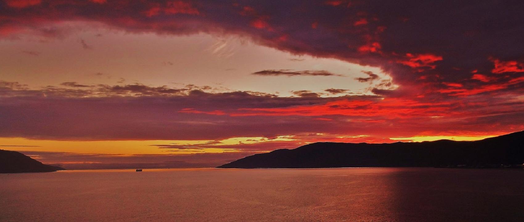 """фото """"Другой закат..."""" метки: пейзаж, море, небо, облака"""