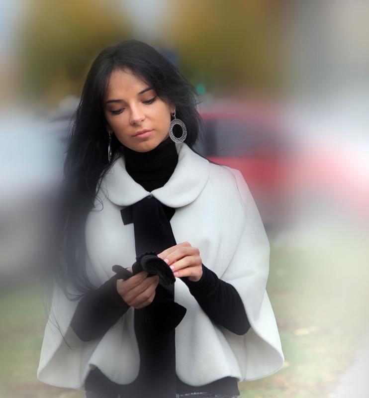 """фото """"1/320"""" метки: портрет, гламур, стрит-фото, Европа, девушка, женщина, лес, облака, осень"""