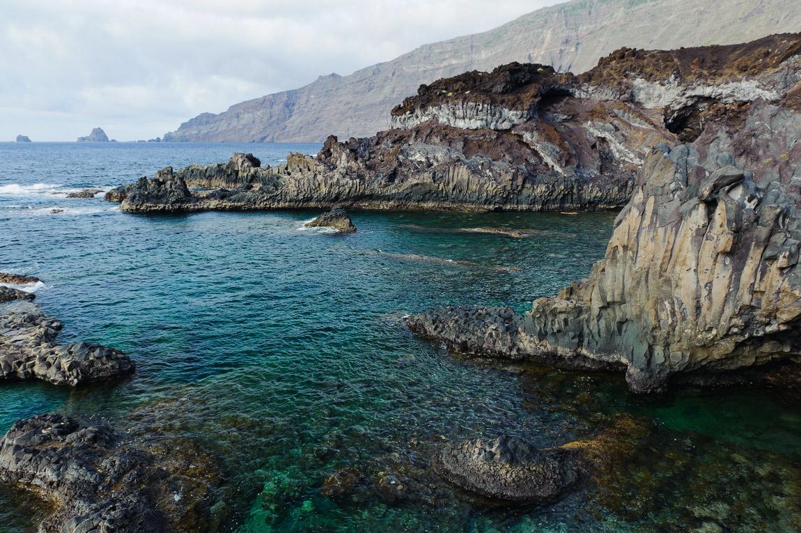 "фото ""***"" метки: пейзаж, путешествия, природа, Европа, Испания, Канарские острова, Эль Йерро, берег, бухта, океан, фактура, цвет"