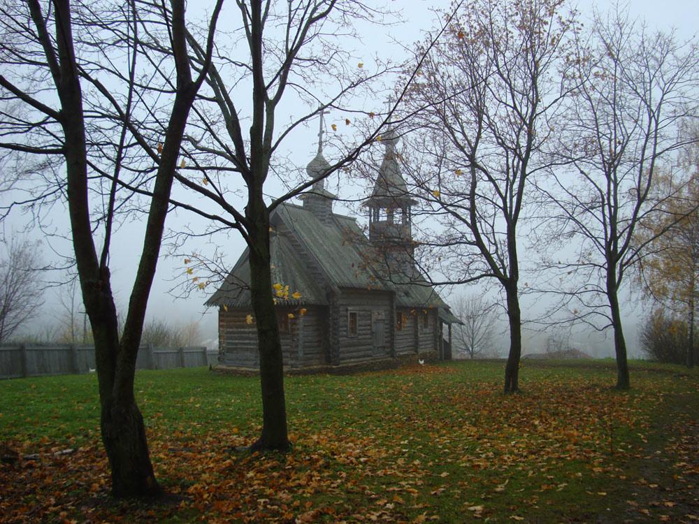 """фото """"..Уходит прошлое в туман неслышными шагами.."""" метки: пейзаж, архитектура, Болдино, октябрь"""