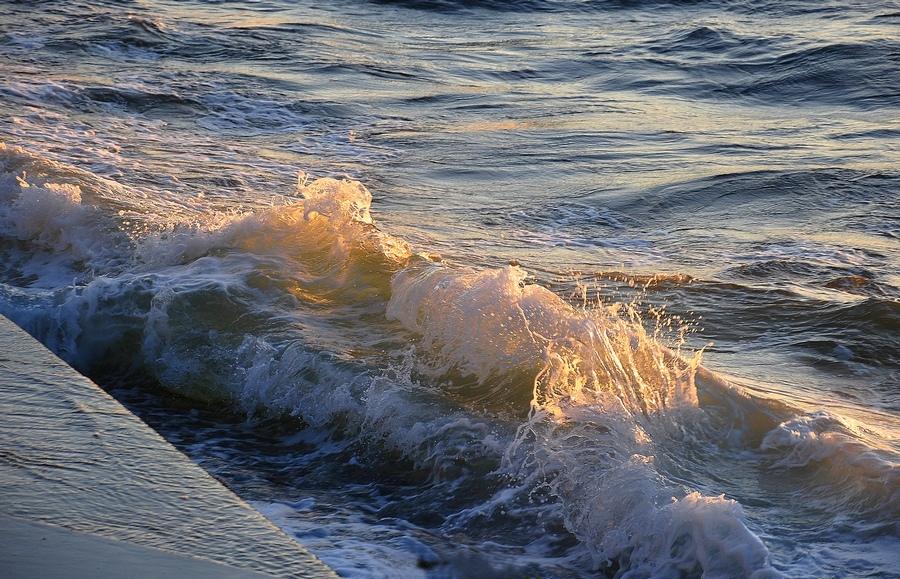 """фото """"Закатная волна"""" метки: пейзаж, волна, закат, море"""