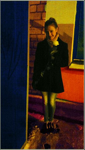 "photo ""... stranger girl in iridescent perception..."" tags: genre, street, portrait, girl, night, восприятие, радужное"