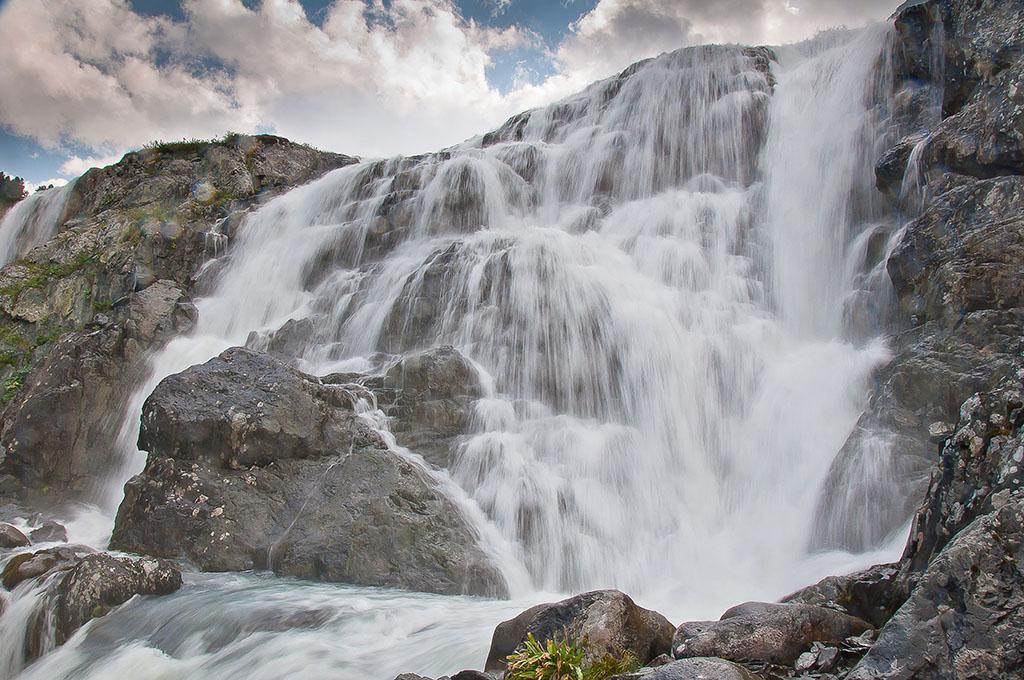 """фото """"Алтай. Каскад Большого Калагаша"""" метки: пейзаж, путешествия, природа, Алтай, Водопады, вода, водопад, горы"""