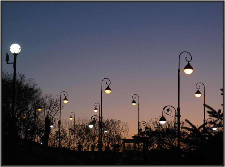 """фото """"Грусть фонарей"""" метки: город, дорога., ночь, осень"""