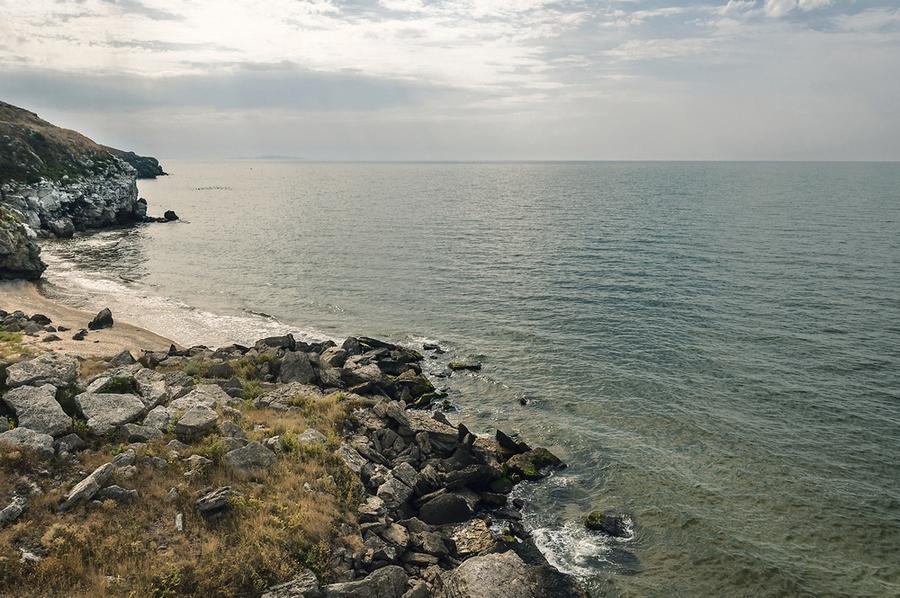 """фото """"Генеральские пляжи"""" метки: пейзаж, Крым, азовское, закат, лето, море"""