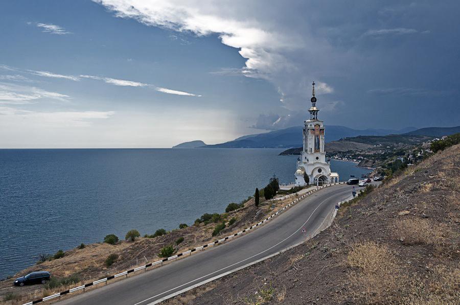 "фото ""Храм-Маяк"" метки: пейзаж, Крым, лето"