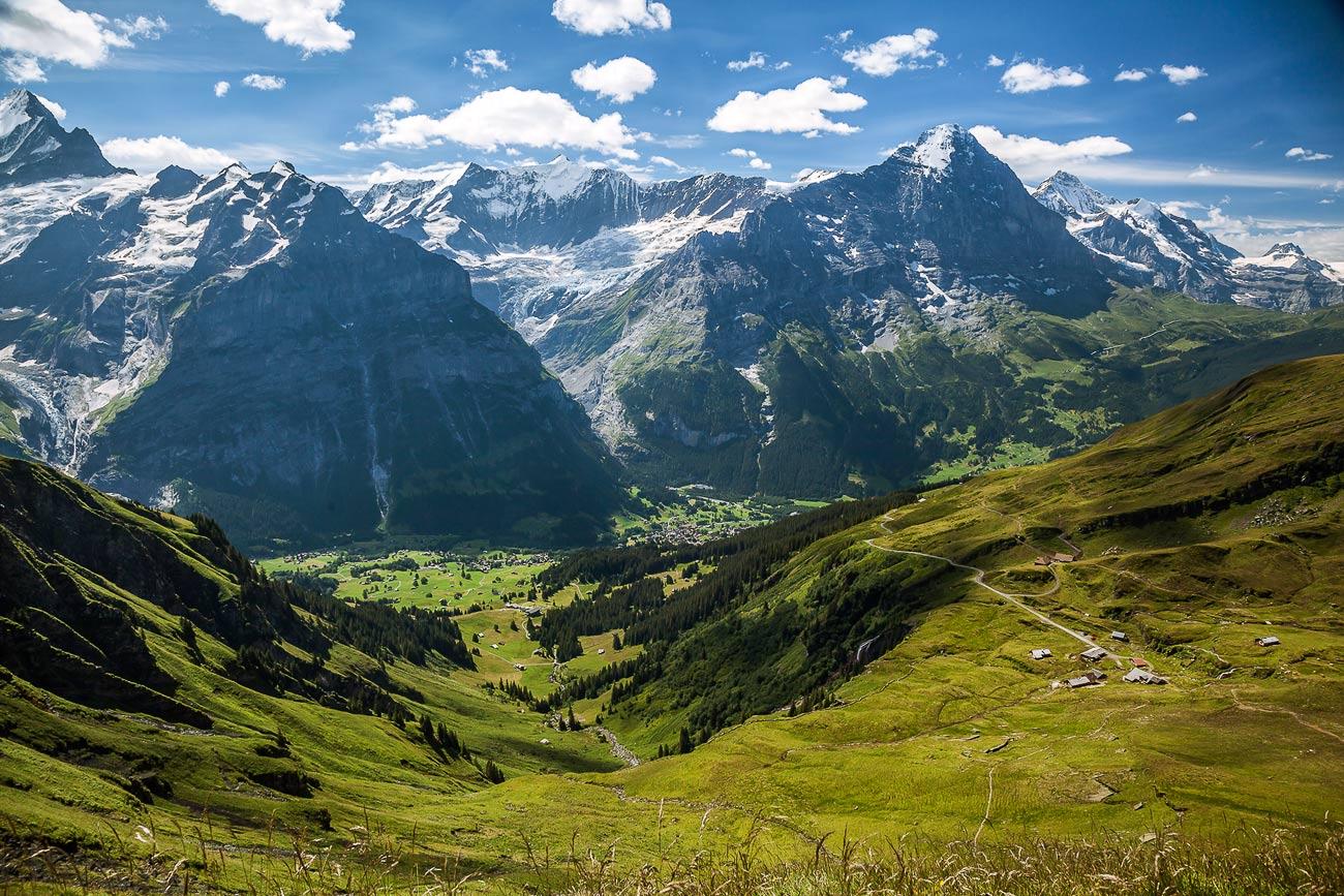 """фото """"Grindelwald"""" метки: пейзаж, путешествия, Европа, горы, лето, облака"""