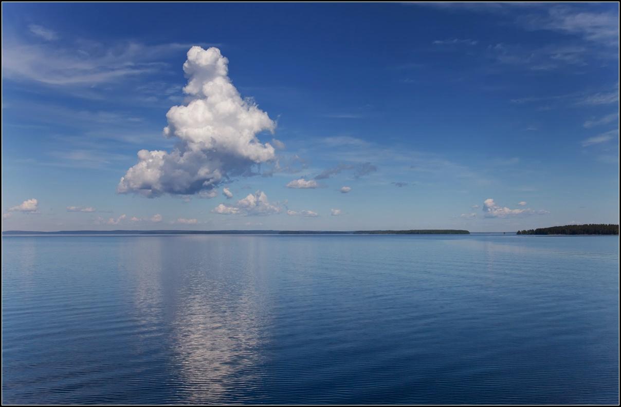 "фото ""Облака над Онегой"" метки: пейзаж, путешествия,"