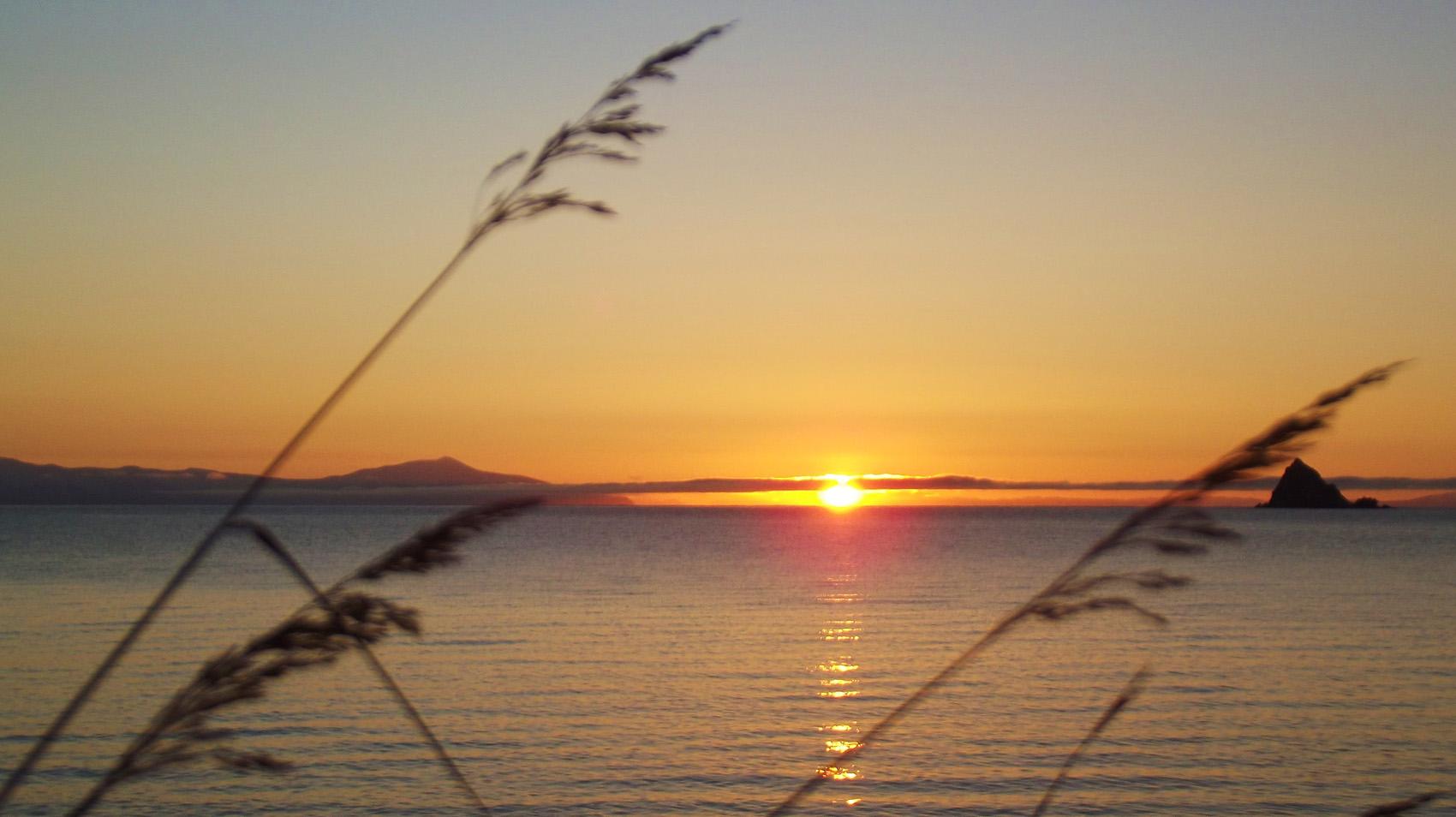 "фото ""Восход."" метки: пейзаж, море, небо, солнце"