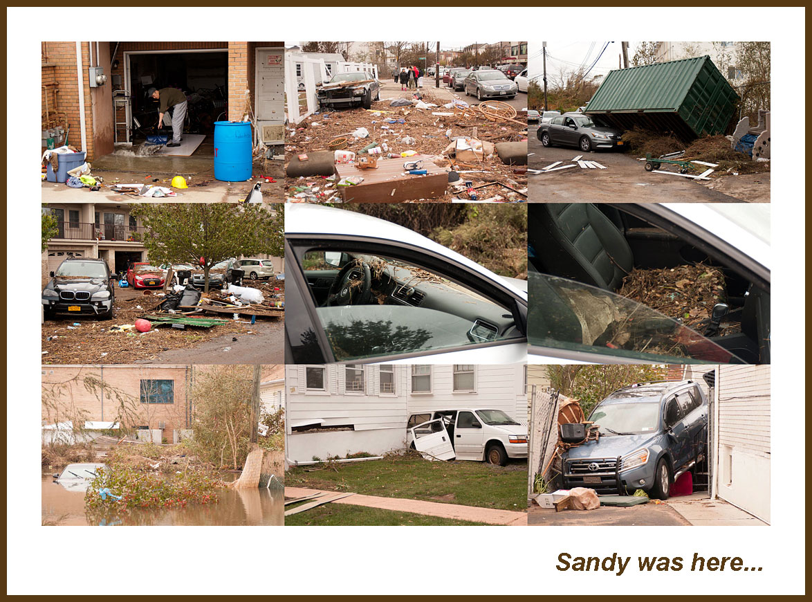 "photo ""Sandy was here"" tags: reporting, city, misc., Collage, Hurricane Sandy, New York City"