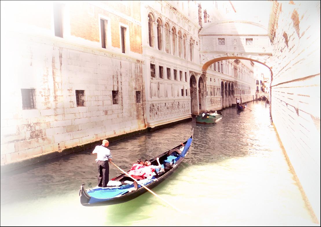 """фото """"Сон о Венеции"""" метки: digital art, Венеция, Европа, Италия, вода, гондола, стилизация"""