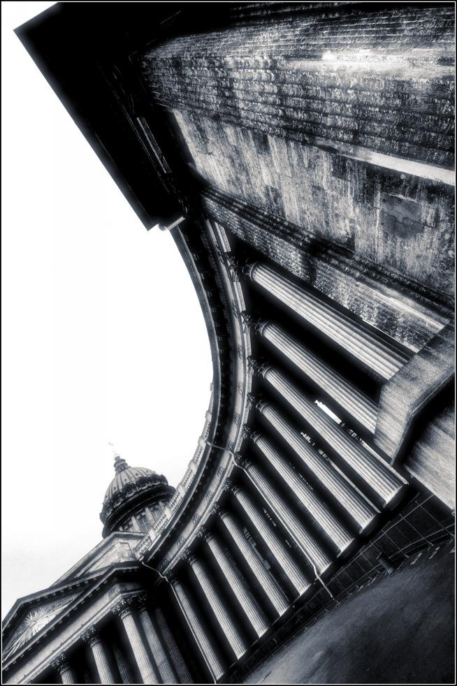 "фото ""Казанский собор..."" метки: архитектура, черно-белые, путешествия, Санкт-Петербург, питер"