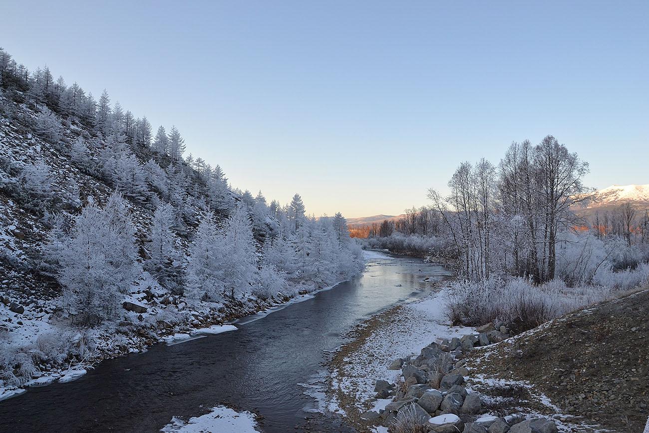 """фото """"Подморозило..."""" метки: пейзаж, зима, иней, река"""