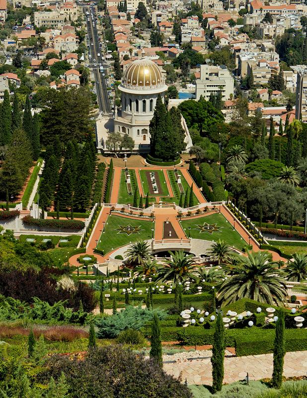 """фото """"***"""" метки: пейзаж, путешествия, город, Бахайские сады, Израиль, Хайфа, сентябрь"""