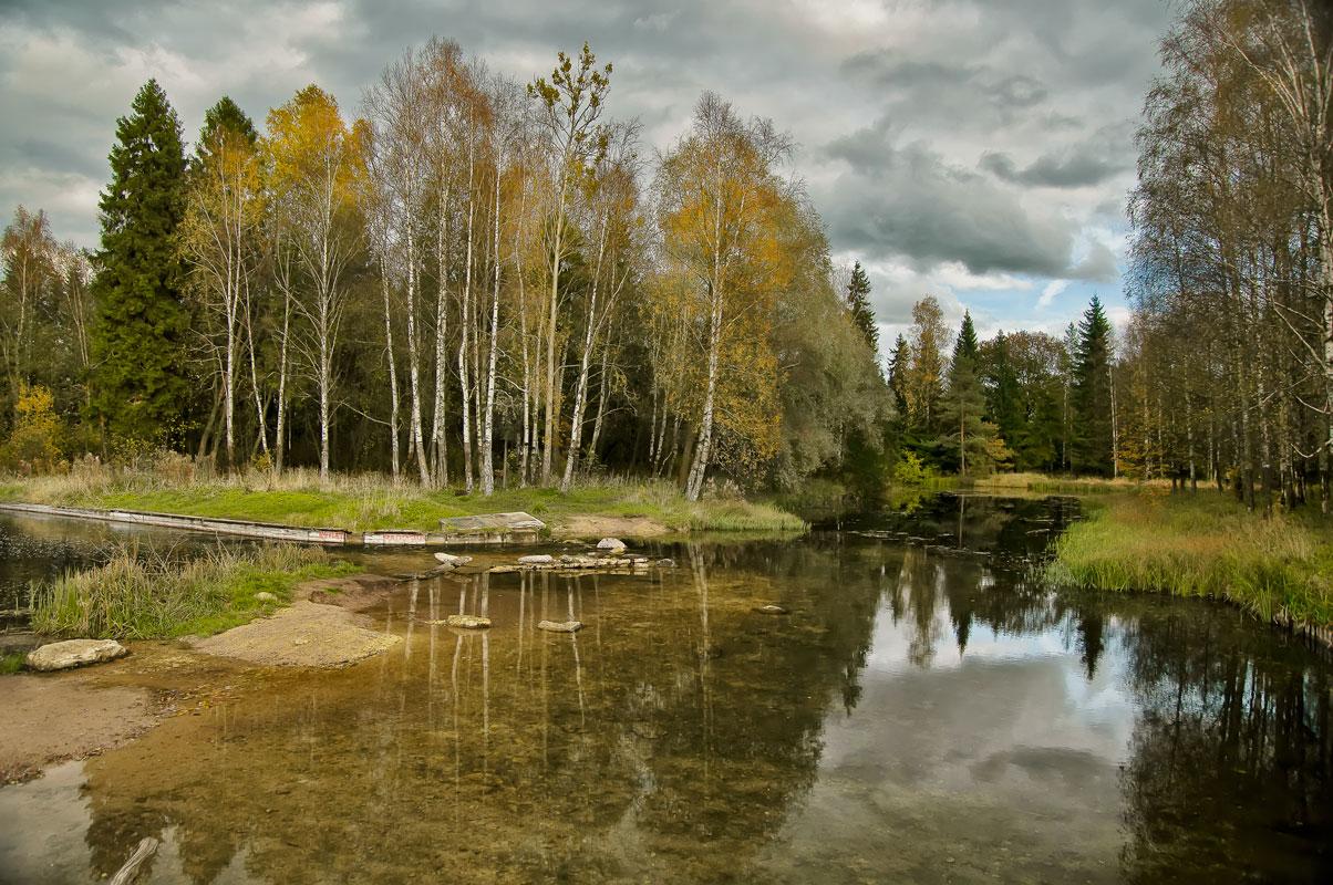 """фото """"Осень в Гатчинском парке"""" метки: пейзаж, Россия, Санкт-Петербург, вечер, осень, отражения"""