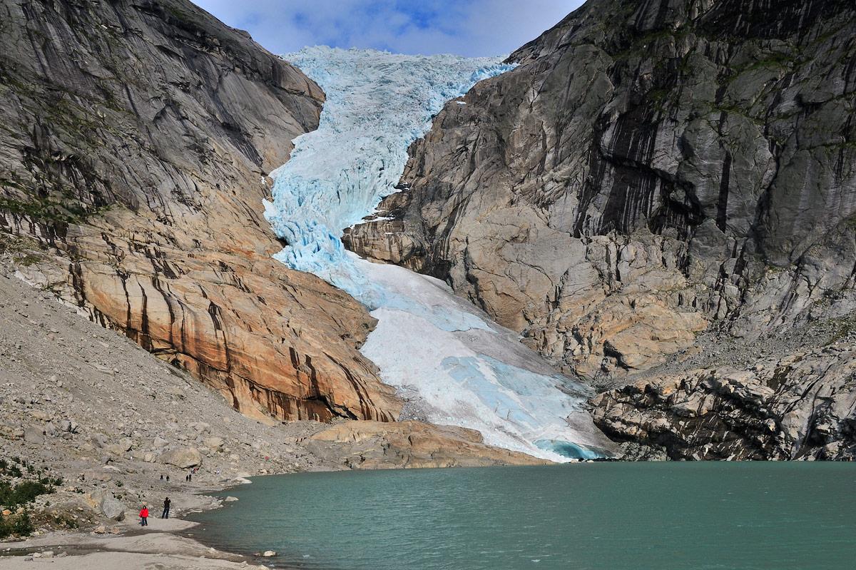 """фото """"Ледяной язык"""" метки: пейзаж, путешествия, Бриксдайль, Европа, Норвегия, вода, ледник"""