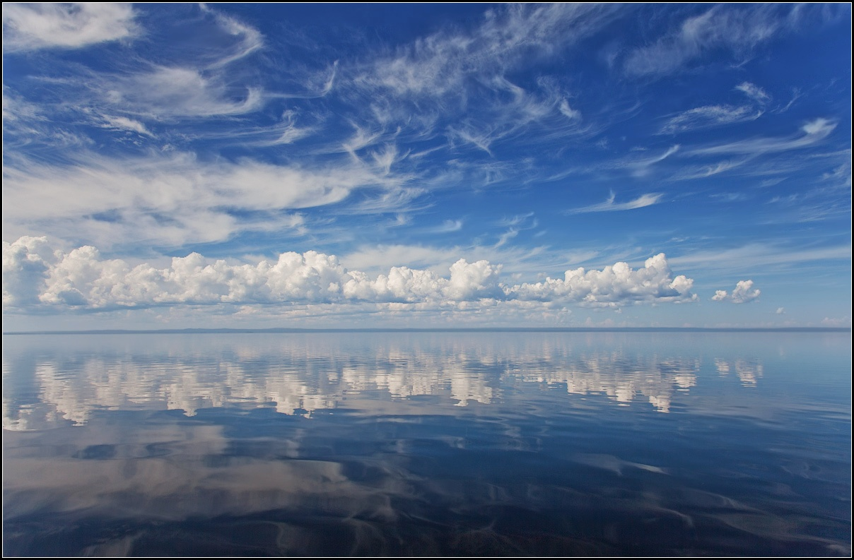 "photo ""Clouds over Lake Onega"" tags: landscape, travel, clouds, lake, Онежское"