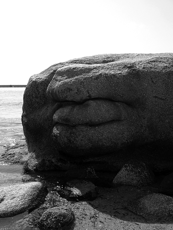 "photo ""Fat Stone"" tags: architecture, black&white,"
