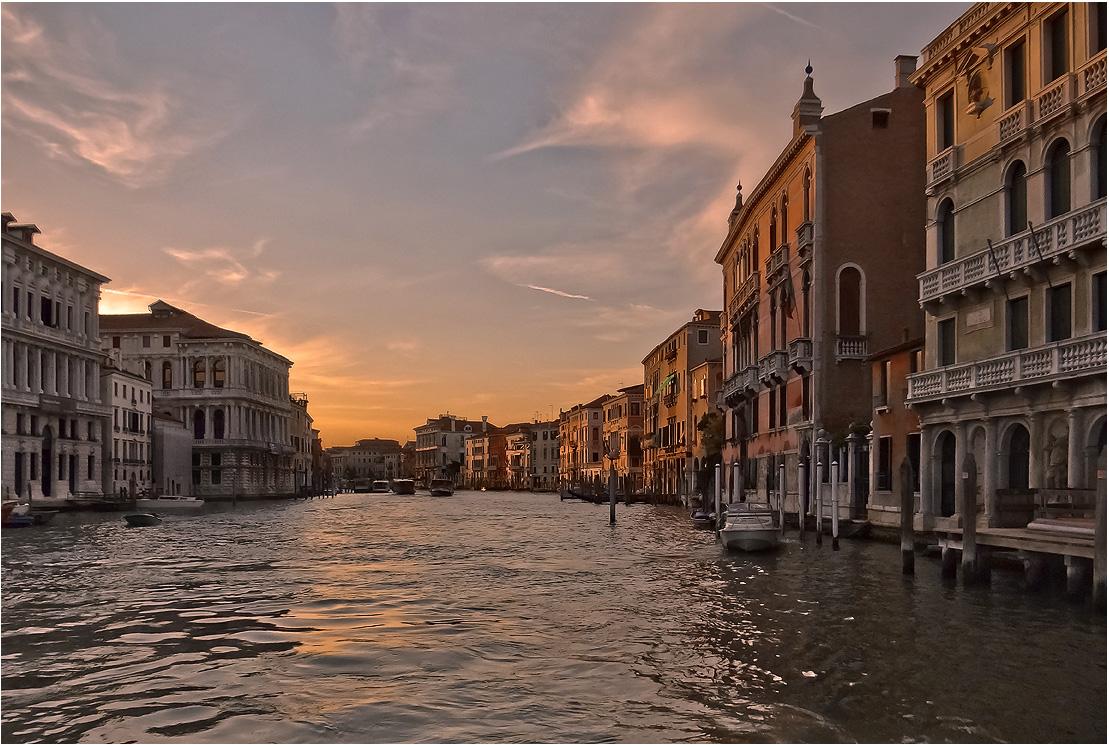 """фото """"В лучах заката"""" метки: путешествия, пейзаж, Венеция, Европа, Италия, вечер, гранд канал, закат"""