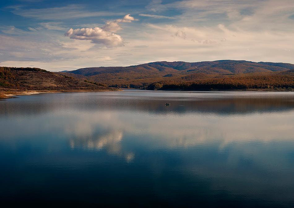 """фото """"Немного лета в ноябре ..."""" метки: пейзаж, путешествия, разное, Европа, вода, закат, озеро, осень, солнце"""