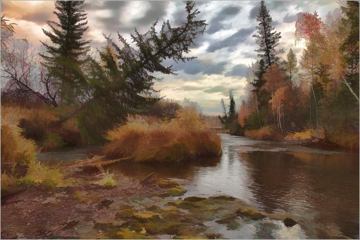 """фото """"Осеннее настроение..."""" метки: digital art, пейзаж,"""