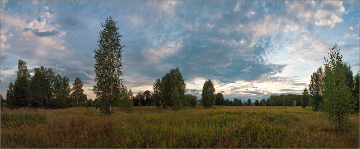 """photo """"***"""" tags: landscape, panoramic, evening, summer"""