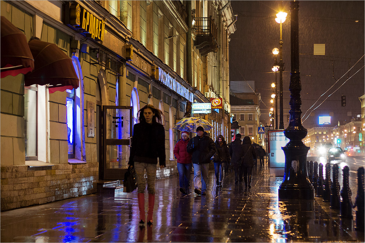 "photo ""***"" tags: city, street, St. Petersburg, autumn, rain"