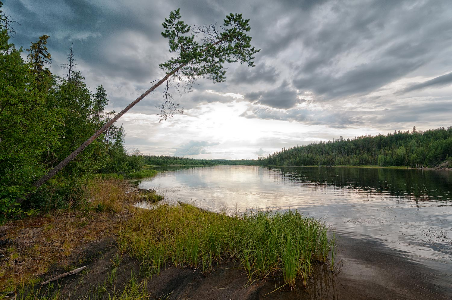 "photo ""***"" tags: landscape, travel, Karelia, clouds, forest, lake, summer, water"