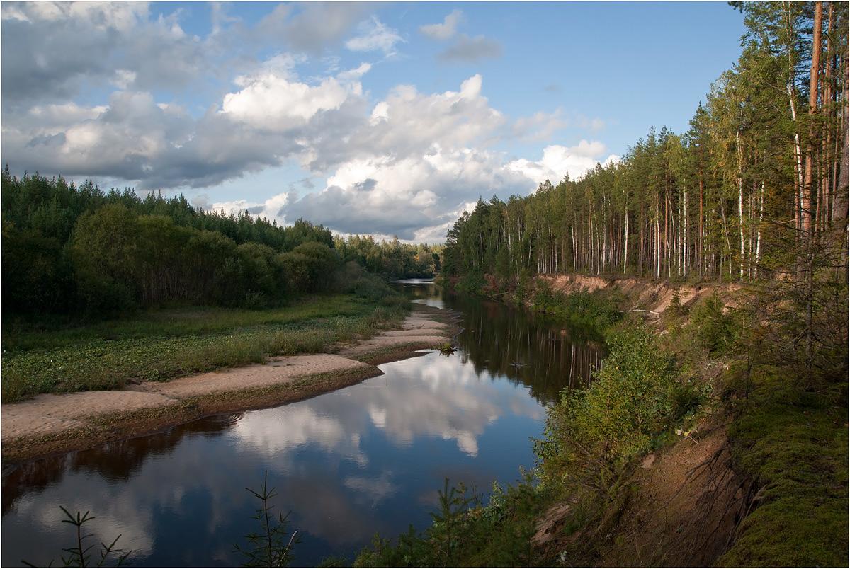 "фото ""Вдоль да по речке..."" метки: пейзаж, природа, путешествия, вода, лес, лето, облака"