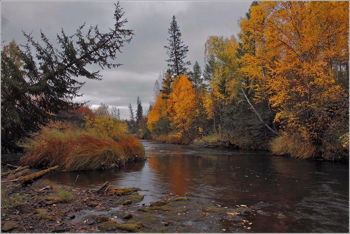 """фото """"Поздней осенью на хмуром перекате"""" метки: пейзаж,"""