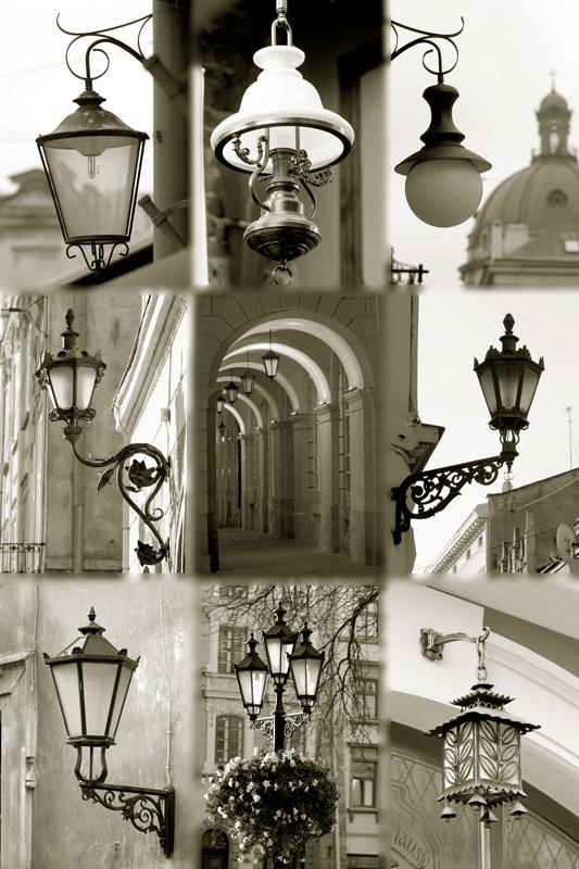"""фото """"Фонари Львова"""" метки: стрит-фото, черно-белые,"""