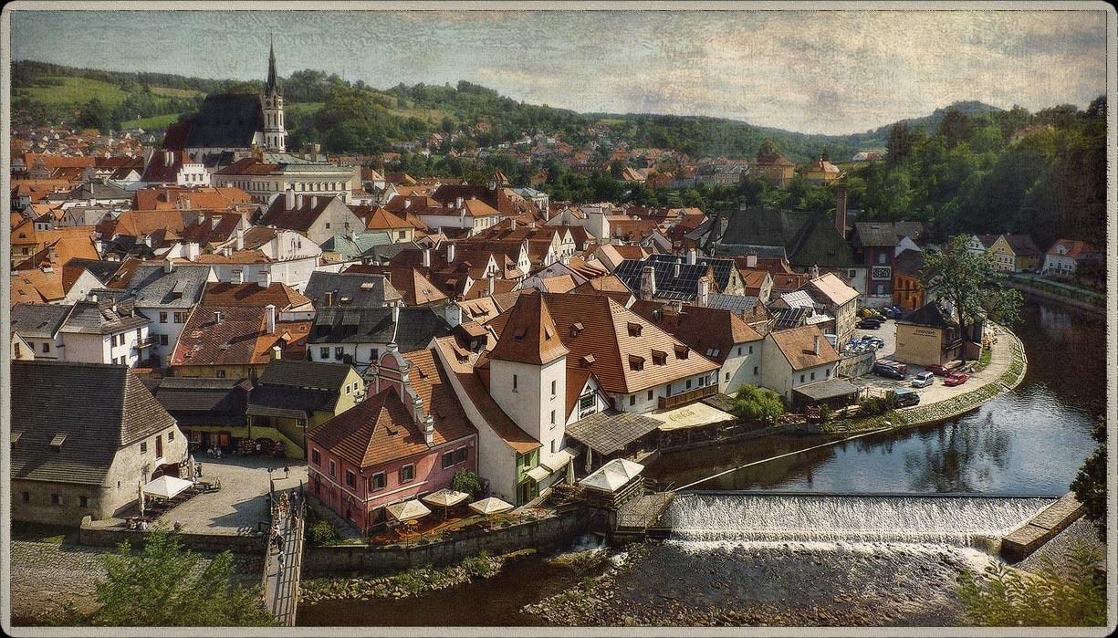 """фото """"Чешское настроение"""" метки: архитектура, путешествия, город, Крумлов, Чехия, настроение"""