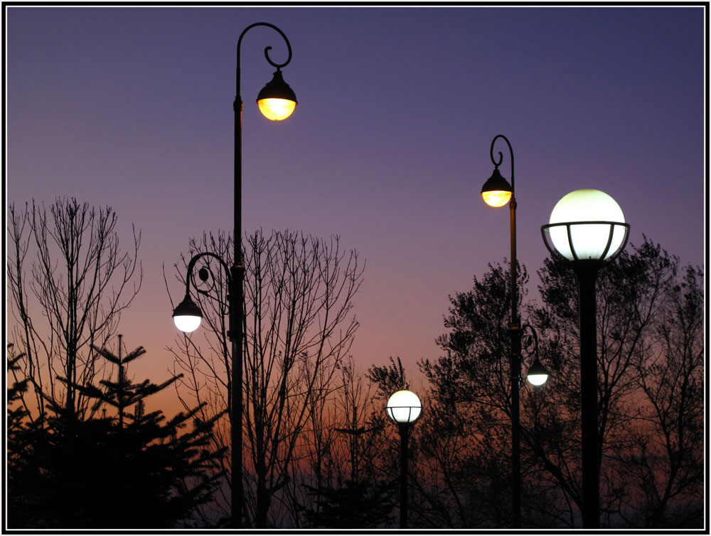 "photo ""***"" tags: city, lamp, night"