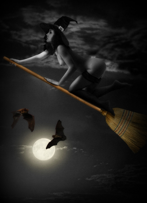 "photo ""The night of the witches..."" tags: nude, glamour, digital art, Europe, woman"