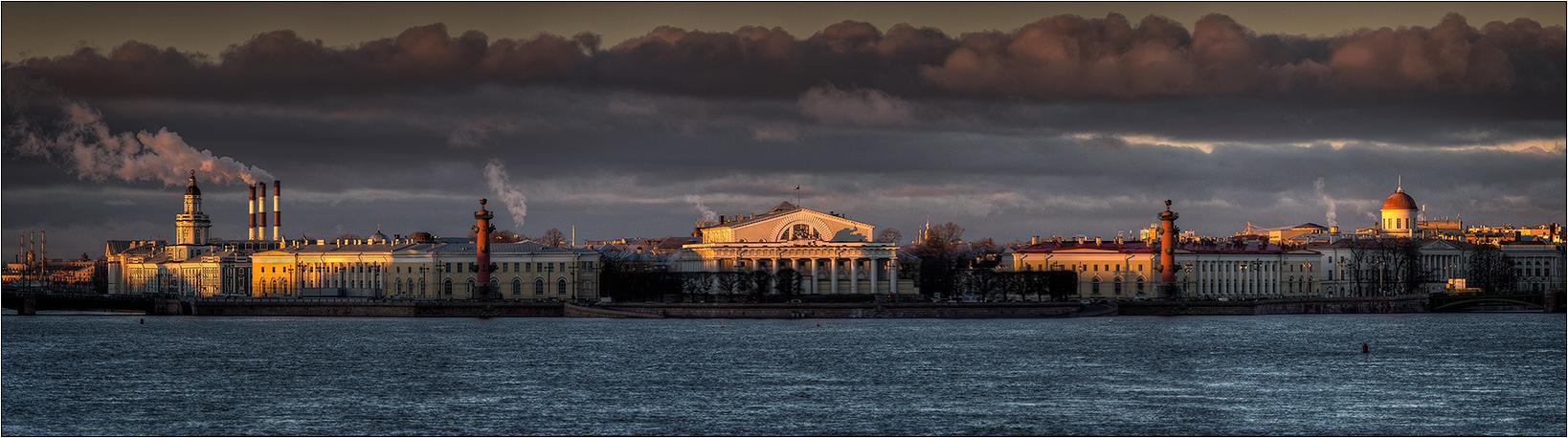 """фото """"Стрелка, утро"""" метки: архитектура, город, закат"""
