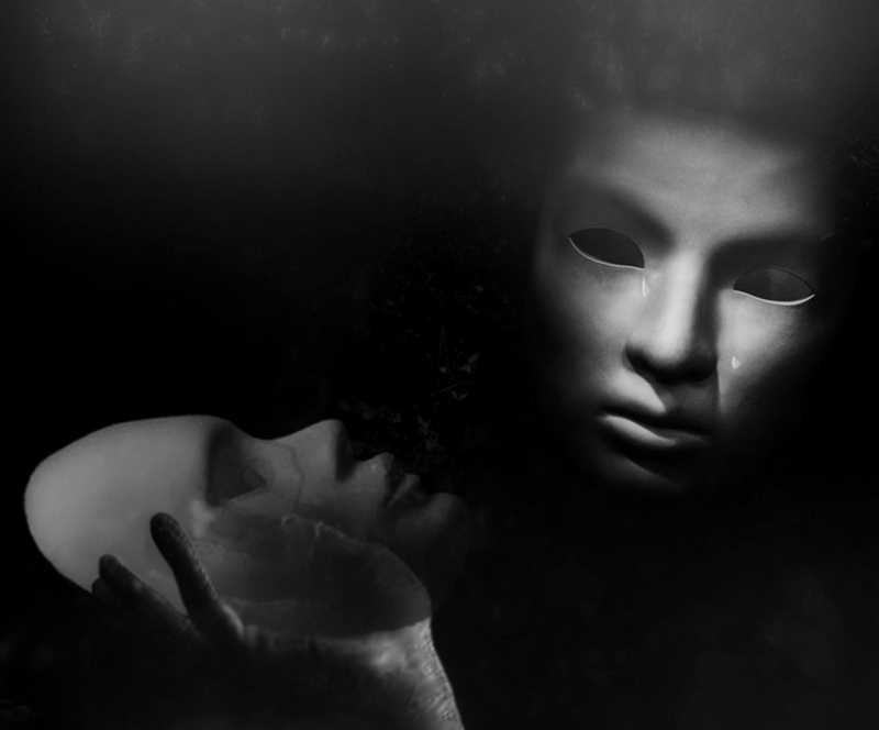 "photo ""Absence..."" tags: digital art, black&white, Conceptual..."