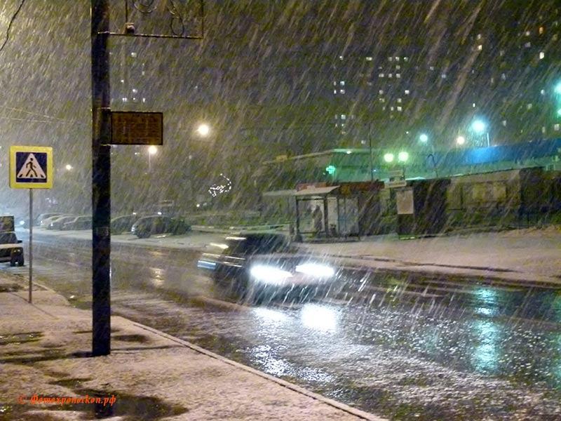 "фото ""Снегопад"" метки: пейзаж, снегопад, солнцево"