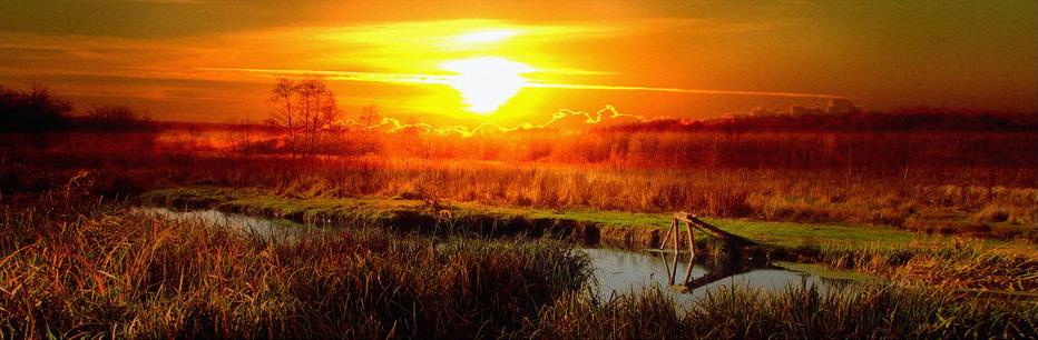 "фото ""Закат на речке Беленькая"" метки: пейзаж,"