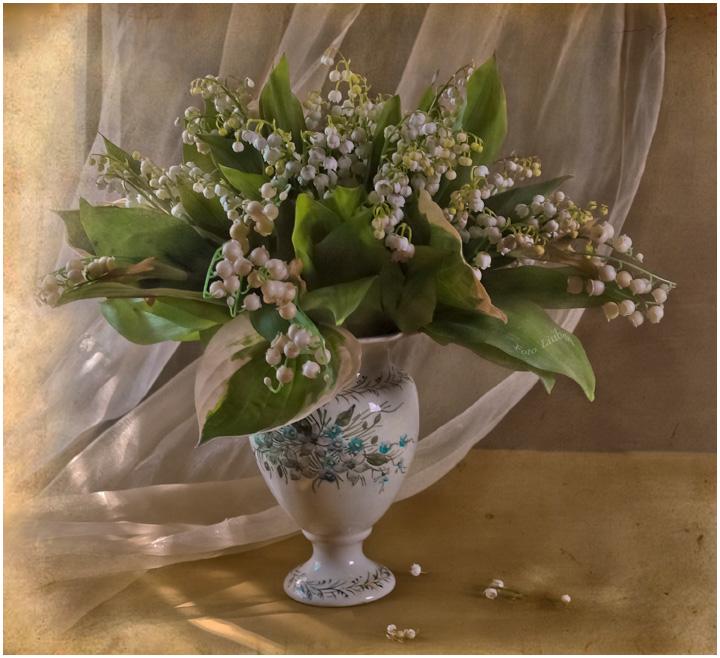 """фото """"Робкий луч или воспоминание о весне..."""" метки: натюрморт, ландыши, цветы"""