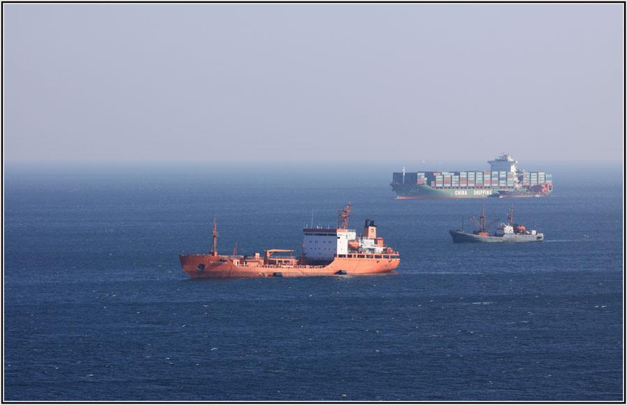 "photo ""***"" tags: landscape, sea, ship, winter"