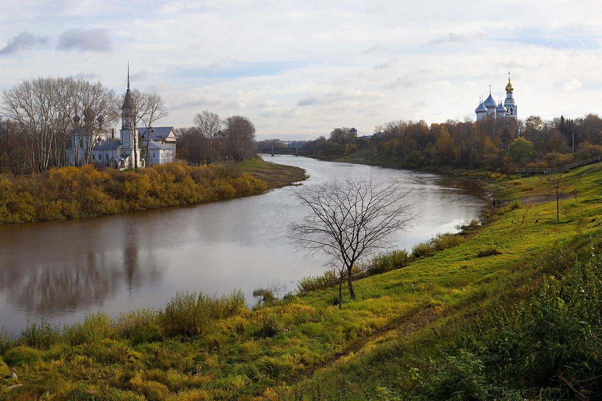 "фото ""Излучина реки Вологды"" метки: пейзаж, архитектура,"