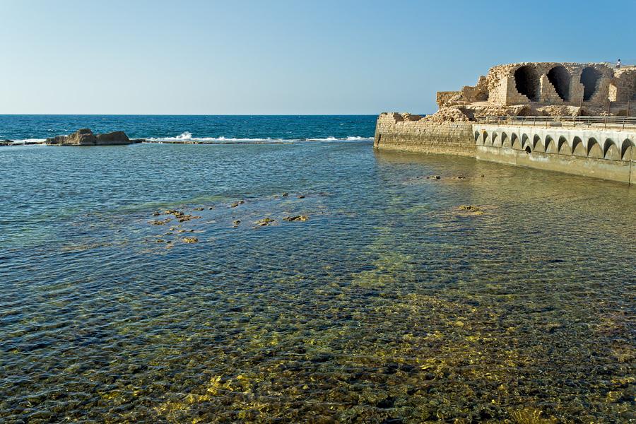 """фото """"***"""" метки: пейзаж, путешествия, Акко, Израиль, Средиземное море, вода, сентябрь"""