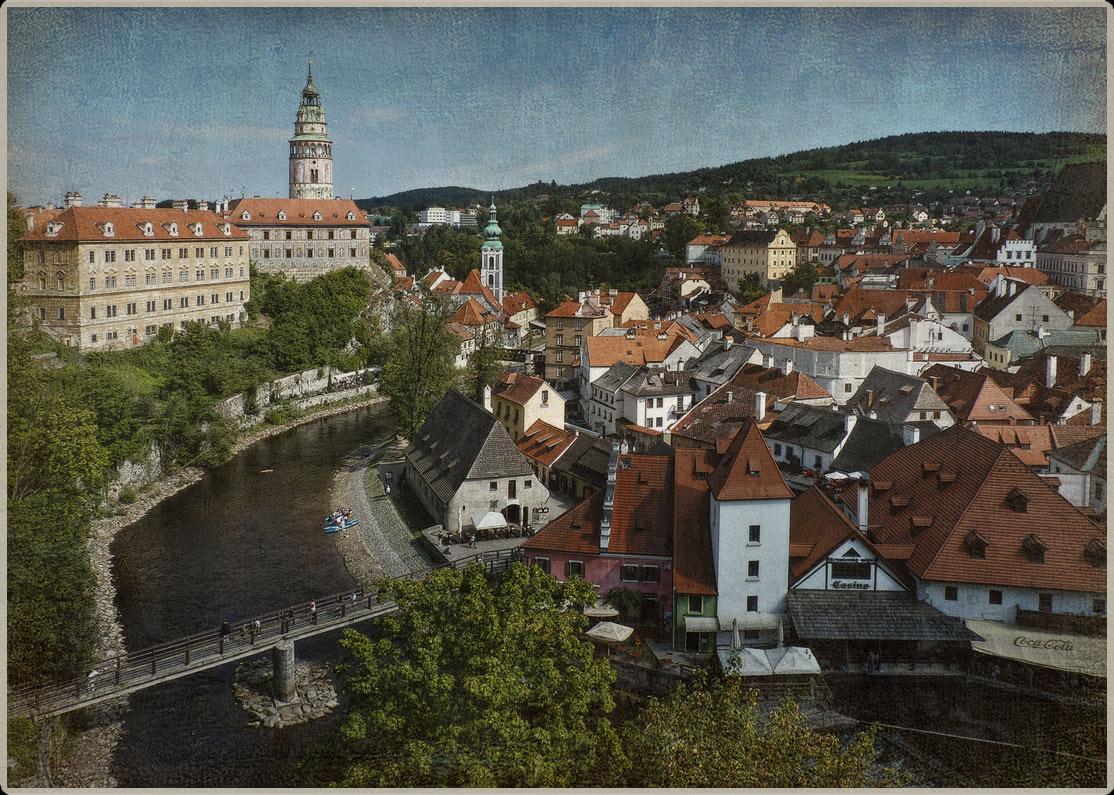 "фото ""Открытка из Чешского Крумлова"" метки: архитектура, город,"