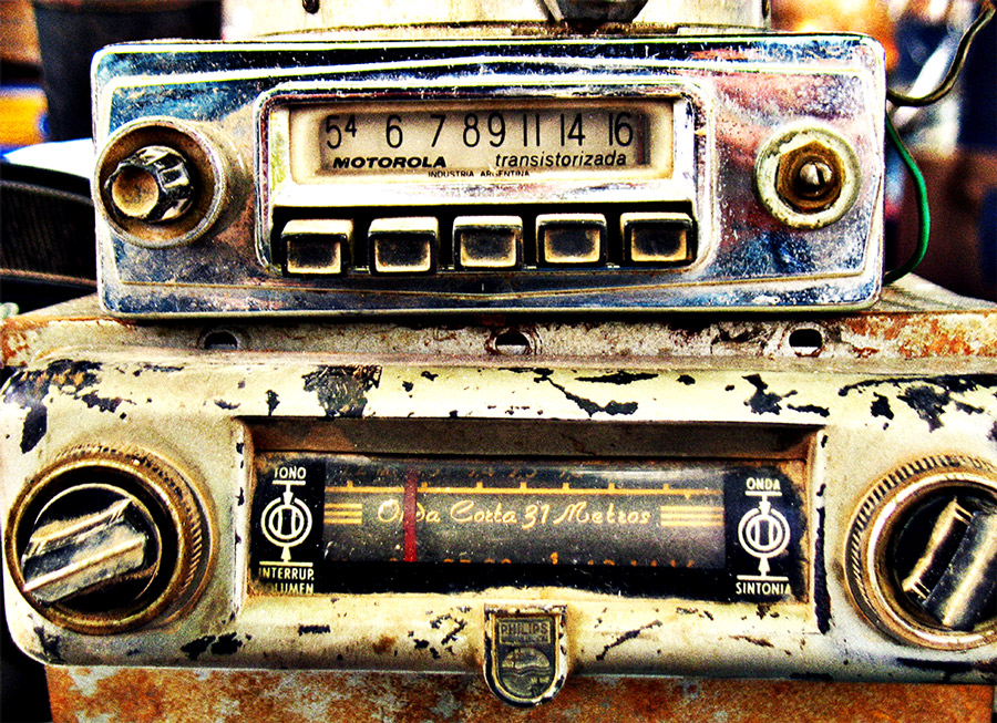 """photo """"Vintage car radios"""" tags: still life, old-time, digital art, aged, antique, automobile, automotive, buttons, car, close-up, dial, dirty, gauge, heritage, motor, oil, old, photo, photograph, race, radio, retro, series, speed, used, vintage, wheels"""