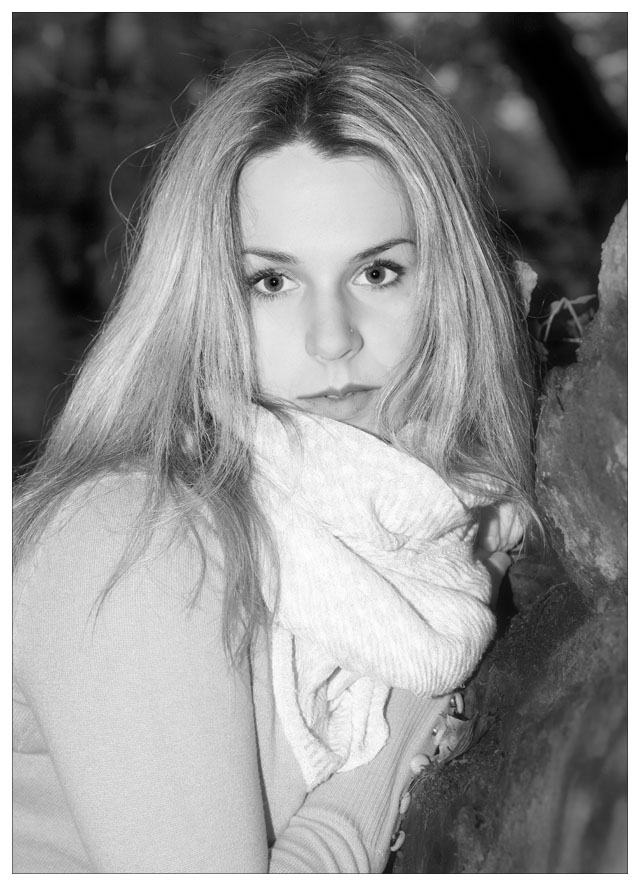 "photo ""Lucie"" tags: portrait, black&white,"
