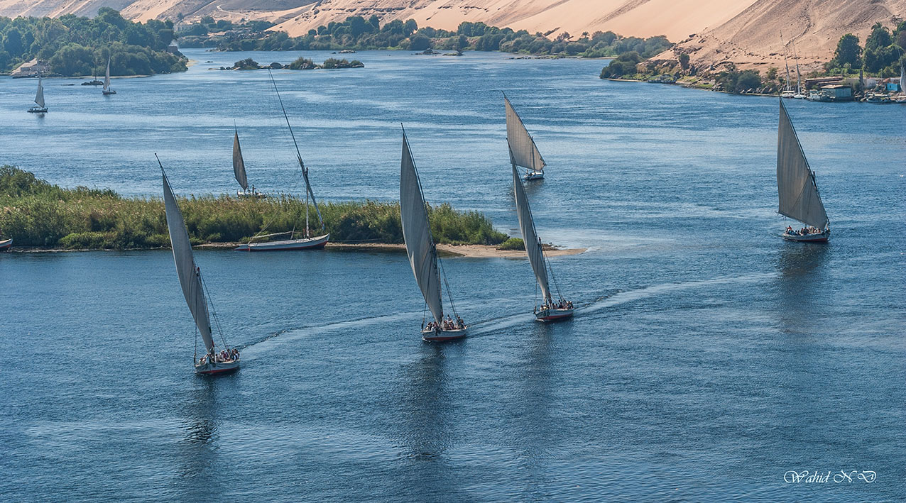 "photo ""Ballet on the Nile"" tags: landscape, travel, Africa, boat, water"