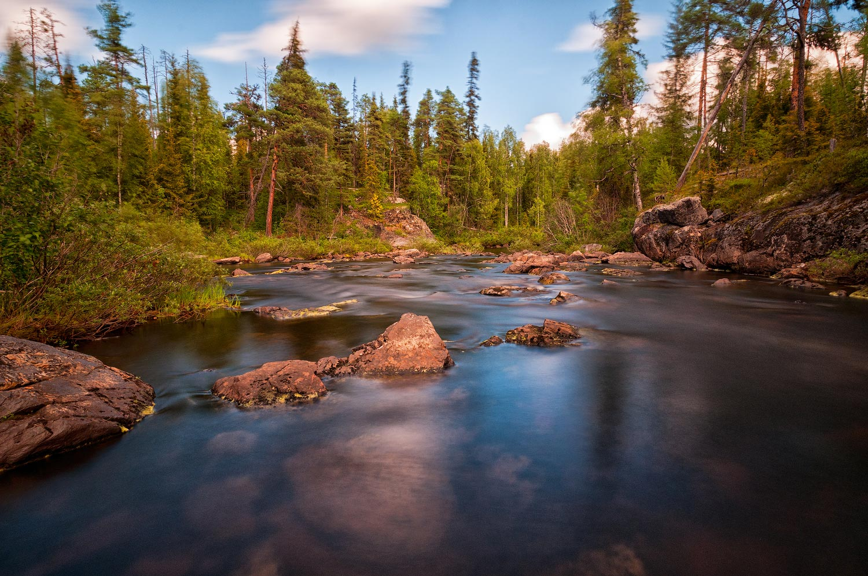 """фото """"Карелия"""" метки: пейзаж, путешествия, Карелия, вода, лес, лето, облака"""