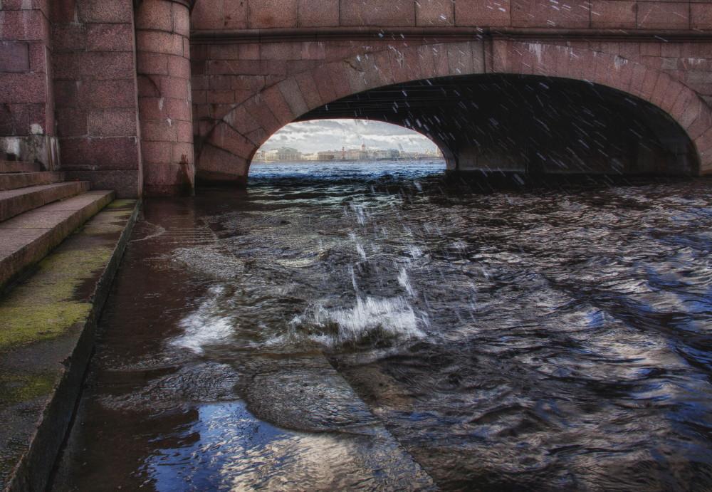 """фото """"Бегущая по волнам"""" метки: пейзаж, вода, осень"""